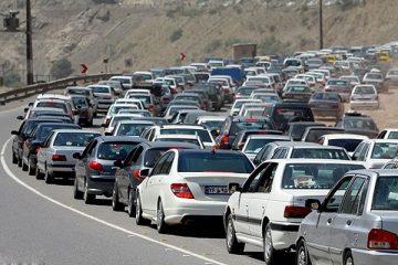 ترافیک در مسیر فیروزکوه – دماوند سنگین است