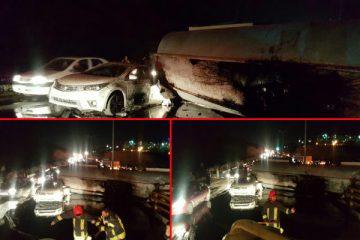 تصادف تریلی با ۳ خودرو در کمربندی بومهن/ ۷ نفر مصدوم شدند