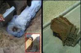 معجزه تکاندهنده در قبرستان روستای جابان دماوند/ یک جلد قرآن قدیمی و دست فلزی پنجتن آلعبا (ع) پیدا شد+ تصاویر