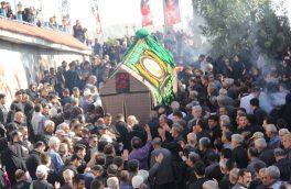 برگزاری آیین حمل نخل ۸۰۰ ساله در شهر کیلان/ عزاداری هیأتهای مذهبی کیلان با نخل قدیمی+ تصاویر و فیلم