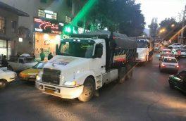 اعزام ۱۲ کامیون حامل محموله تدارکات موکب دماوند به کربلای معلی/ آغاز خدماترسانی از ۱۵ ماه صفر