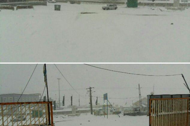 نخستین بارش برف پاییزی در دماوند