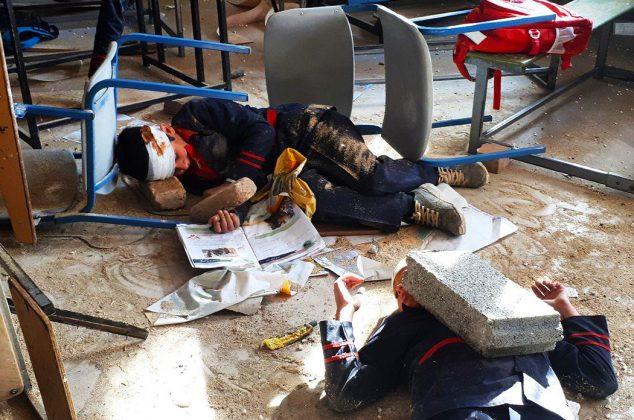 مانور زلزله در مدرسه شهید نواب صفوی کوهان کیلان