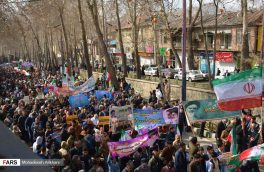 حضور تماشایی مردم دماوند در راهپیمایی ۲۲ بهمن
