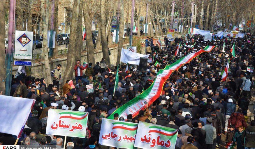 حماسه ماندگار مردم دماوند در عید انقلاب