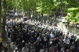 خروش علیه رژیم اشغالگر قدس در دماوند/ چهلمین راهپیمایی روز جهانی قدس صحنه ابراز انزجار از آمریکا+ تصاویر