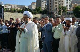 نماز شکرانه عید فطر ۳ هزار نمازگزار در رودهن/ مدیح: تنها راه نجات امت رعایت تقوای الهی است+ تصاویر