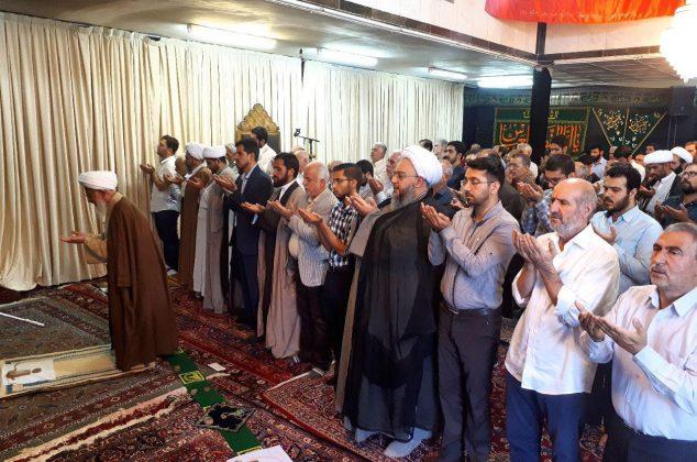 اقامه نماز عید قربان به امامت آیت الله جوادی آملی در دماوند