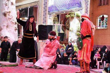 مراسم تعزیهخوانی در حسینیه فرامه دماوند