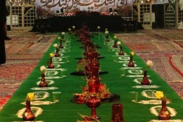 برپایی بزرگترین سفره حضرت رقیه در شهر دماوند+ تصاویر