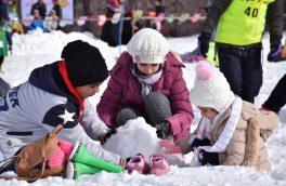 جشنواره همگانی روز جهانی برف در پیست اسکی آبعلی