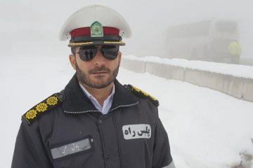 ترافیک نیمه سنگین در محورهای شرق استان تهران/ بارش برف در ارتفاعات هراز و فیروزکوه