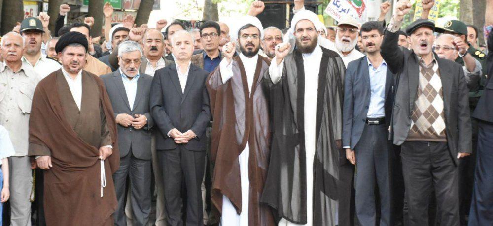 راهپیمایی پرشور مردم دماوند در روز قدس ۹۸