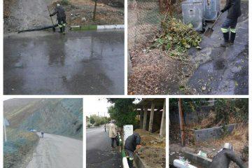 اجرای طرح رفع آبگرفتگی معابر در شهر کیلان+ تصاویر
