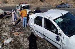 واژگونی خودروی تندر ۹۰ در محور هراز/ ۲ نفر مصدوم شدند