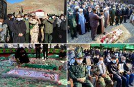 تشییع و خاکسپاری پیکر مطهر شهید گمنام در اردوگاه سیدالشهدا(ع) شهر آبعلی