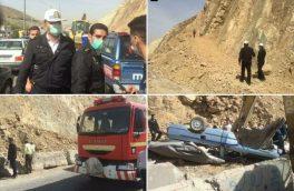 ۲ کشته و یک مصدوم در واژگونی یک خودرو در رودهن+ تصاویر