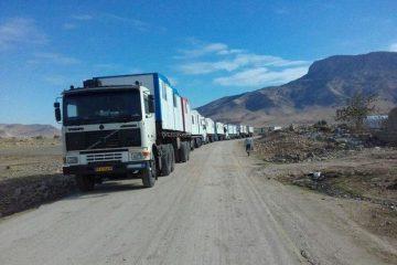 ۱۰کانکس مجهز از شرق استان تهران به «سیسخت» ارسال شد