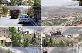 خاکبرداری قابل توجه یک کوه در اطراف شهرک روحافزای دماوند/ سلب آسایش ساکنان از ترددهای بیشمار کامیونهای حمل خاک