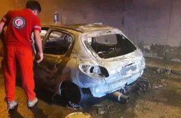 فیلم| پژو ۲۰۷ در آتش سوخت/ بازگشایی تونل آزادراه تهران-پردیس/ حادثه مسدوم و تلفات نداشت