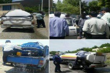 توقیف ۵ دستگاه خودرو حمل غیرمجاز آب بهمنظور جلوگیری از آب فروشی در روستای حصاربالا و منطقه مشا