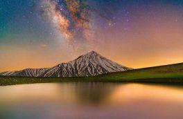 """کهکشان راه شیری بر فراز قله """"دماوند"""""""