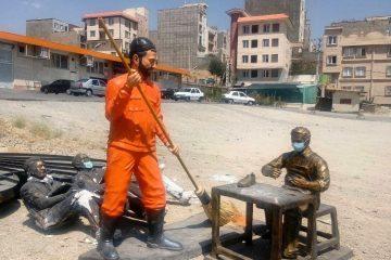 واکنش کاربران به انتقال مجسمههای جدید شهر دماوند/ شهرداری: مجسمهها برای بازسازی جابهجا شدند