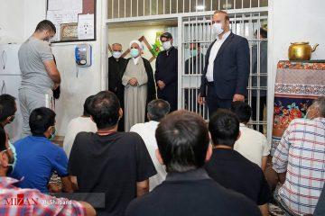 عکس| بازدید رئیس قوه قضاییه از زندان دماوند